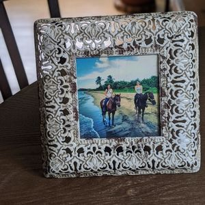 Michael's white distressed 4x4 picture frame